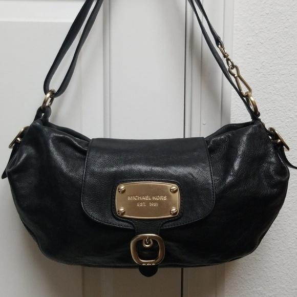97523abce827 Michael Kors Bags | Purse Black Leather Hobo Shoulder Bag | Poshmark